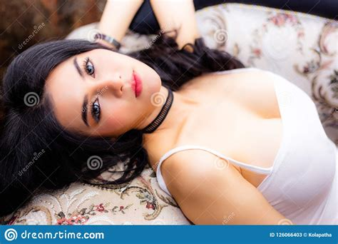 Portrait Charming Beautiful Woman Attractive Beautiful