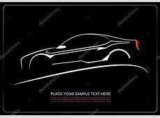 Imágenes de automóviles de negro silueta blanca del