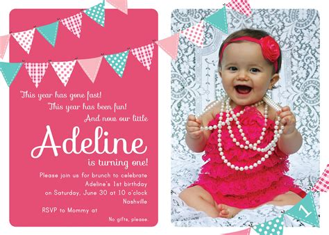 nice Unique Ideas For First Birthday Party Invitations