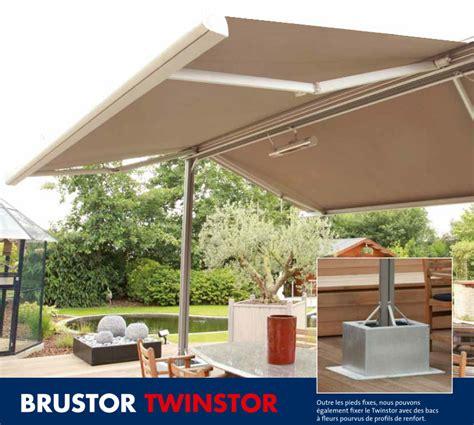 store parasol pente professionnel store de terrasse sur pied le twinstor de brustor qu en pensez vous