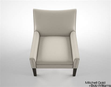 mitchell gold and bob williams henri chair leather 3d