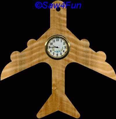 airplane clock scroll  pattern clock plans