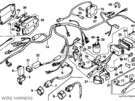 2001 Honda Rancher 350 Wiring Diagram by Harness Wire For Trx350 Fourtrax 4x4 1987 H Usa Order