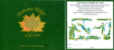 Autumn Ridge - Actual Scorecard | Course Database