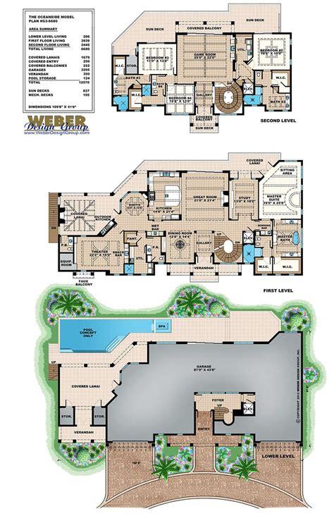 beach house plan caribbean beach home floor plan  story