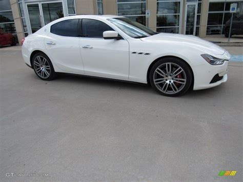 maserati ghibli white 2014 bianco white maserati ghibli s q4 115992423 photo