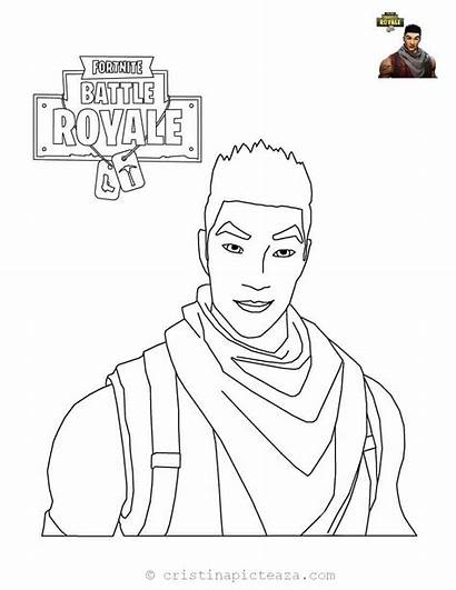 Fortnite Coloring Pages Drawings Colorat Trooper Planse