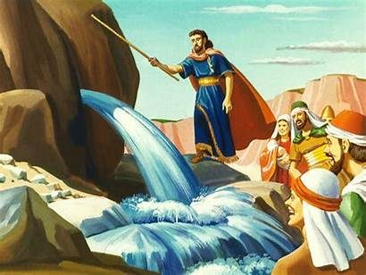 Rock Water Moses Bible God Serpent Lessons