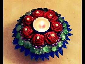 10-minutes DIY: Decorative CANDLE HOLDER with paper plate