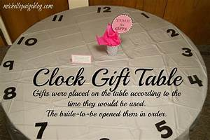 michelle paige blogs time themed bridal shower With around the clock wedding shower gift ideas