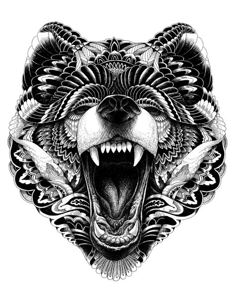Pin by Meladey Glascoe on coloring book | Tattoos, Bear tattoos, Tribal bear tattoo