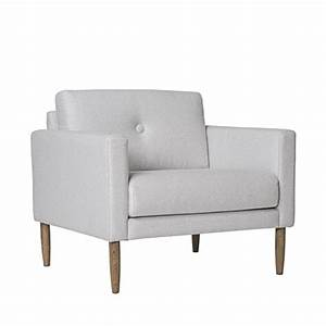 Fauteuil Gris Clair : fauteuil design tissu gris clair calm bloomingville ~ Teatrodelosmanantiales.com Idées de Décoration