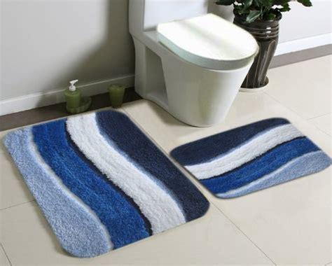 blue bathroom rug sets images