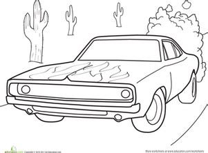 dodge charger worksheet education 430 | dodge charger coloring page vehicles