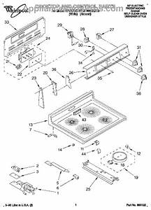 Parts For Whirlpool Rf366bxdw0  Cooktop And Control Parts