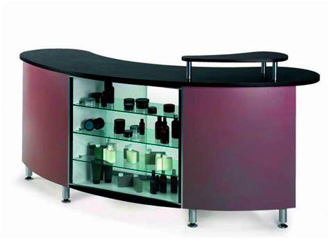 salon reception desk with glass display salon reception desk