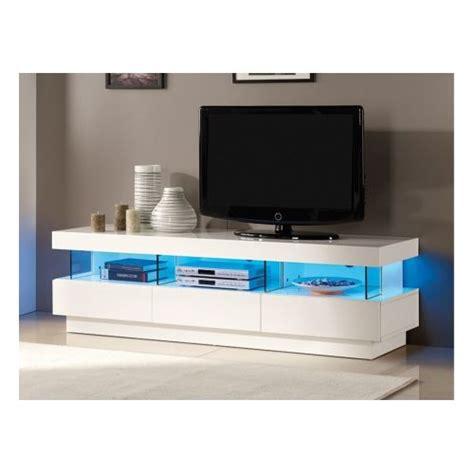 meuble tv blanc laque led pas cher id 233 es de d 233 coration et de mobilier pour la conception de la