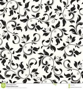 Black and White Vintage Floral Pattern