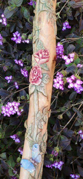 meet rose  carved walking stick  tj