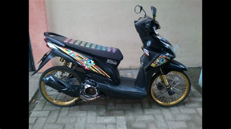Modifikasi Motor Beat Fi Hitam by Modifikasi Honda Beat Fi Hitam Ring 17 Automotivegarage Org