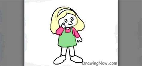draw  cartoon figure    girl drawing