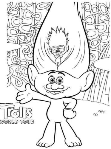 printable trolls world  coloring pages