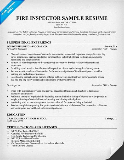 and safety inspector cover letter inspector resume sle resume sles across all