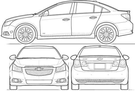 car blueprint blueprints colection chevrolet cruze