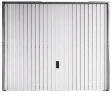 porte de garage basculante en acier blanc galvanis 233 2x2