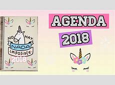 DIY AGENDA 2018 PARA IMPRIMIR GRATIS YUDIT REYES YouTube