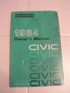 84 Genuine Honda Civic Owners Manual Oem Instruction Book