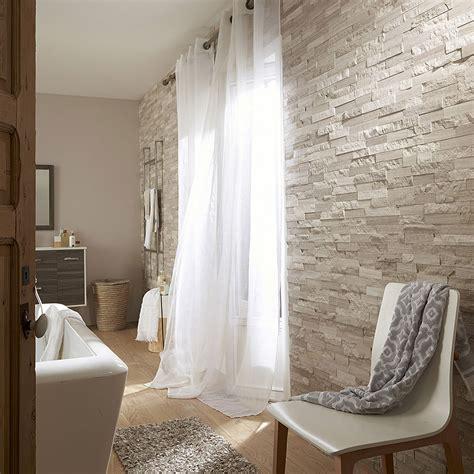 deco de parement interieur plaquette de parement naturelle gris beige cottage leroy merlin