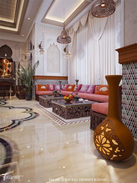 arabic majlis  dubai  behance moroccan living room
