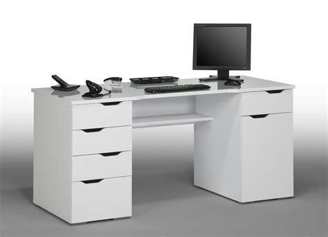 but bureaux bureau informatique design laqué blanc claudelle bureau