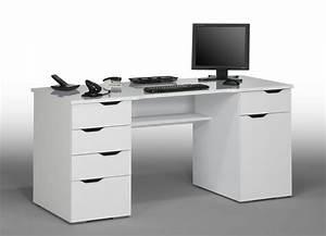 Bureau But Blanc : bureau ordinateur blanc bureau 40 cm profondeur lepolyglotte ~ Teatrodelosmanantiales.com Idées de Décoration
