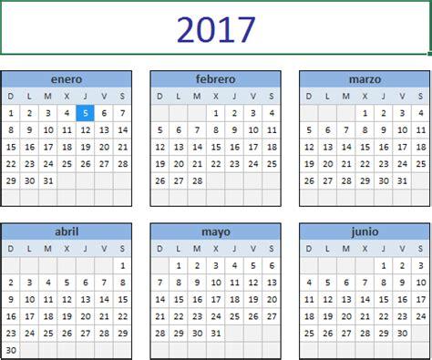 descarga el calendario en excel excel total