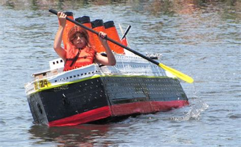 Cardboard Boat For Play by Paddle Up To The Riverhead Cardboard Boat Races