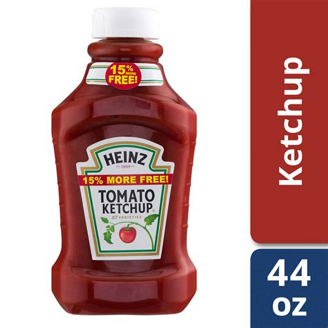 Heinz Tomato Ketchup, 44 oz Easy Squeeze Bottle - Walmart ...