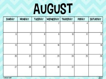editable calendar blue chevron august laugh eat learn