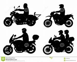 Motorcyclists Silhouettes Stock Photography - Image: 34485042