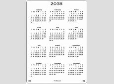 2038 Calendar