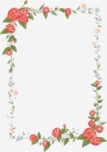 Floral border design vector, Graphic Design, Frame ...