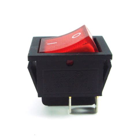 l on off switch 2x square rocker switch red led 4 pin dpst on off snap in