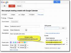 Schedule and invite from Outlook, Google Calendar, iCal