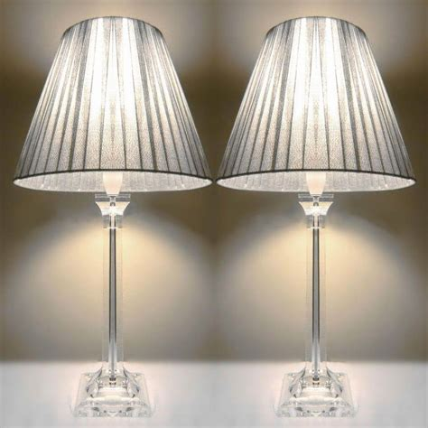 2x Acrylic & Ribbon Bedside Table Lamps In Silver  Buy. Hafele America. Indoor Pond. How To Get Smell Out Of Couch. Vanity Set With Lights. Floor Medallions. Pottery World. Sliding French Doors. Round Counter Height Table