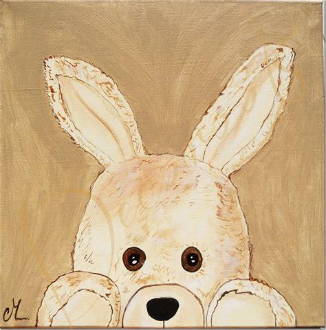 tableau chambre bébé garçon tableau enfant bébé esthéban le lapin en peluche