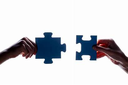 Connection Puzzle Symbol Piece Hand Holding Silhouette