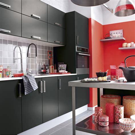 leroy merlin meubles de cuisine meuble de cuisine noir delinia délice leroy merlin
