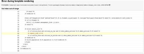django template list index django error while rendering template indexerror stack
