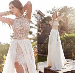 dress for go to a wedding party white lace prom fashdea